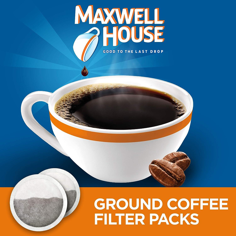 Maxwell House Original Medium Roast Ground Coffee Filter Packs (40 Filter Packs, 4 Packs of 10