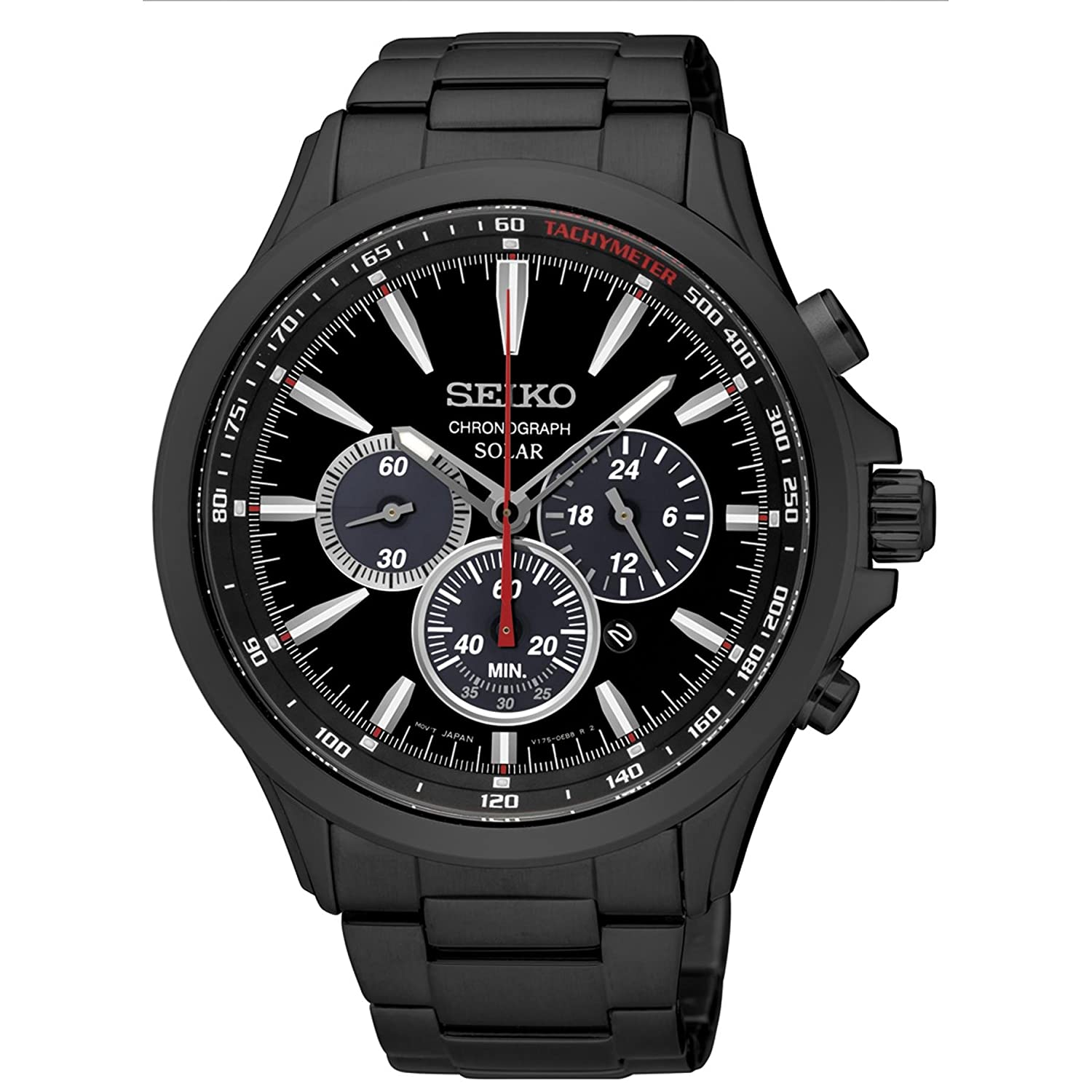 Amazon.com: Japan Mens Analog Casual Solar Seiko Watch ...