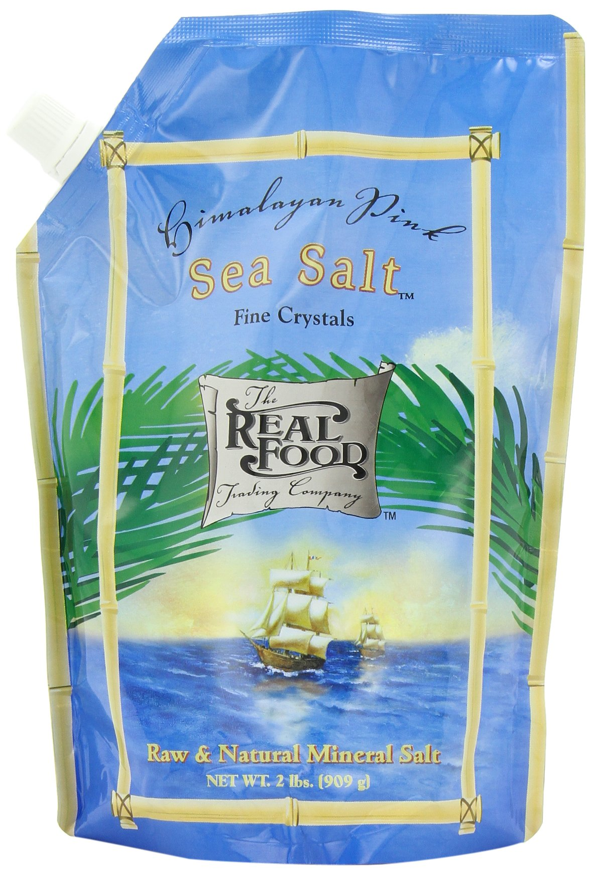 Funfresh Foods Real Food Trading Company Himalayan Pink Sea Salt, 2-Pound