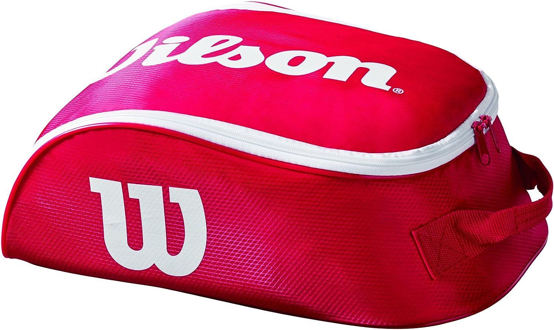Wilson Tour IV Bolsa para calzado, para 1 par de zapatos, unisex, rojo/blanco