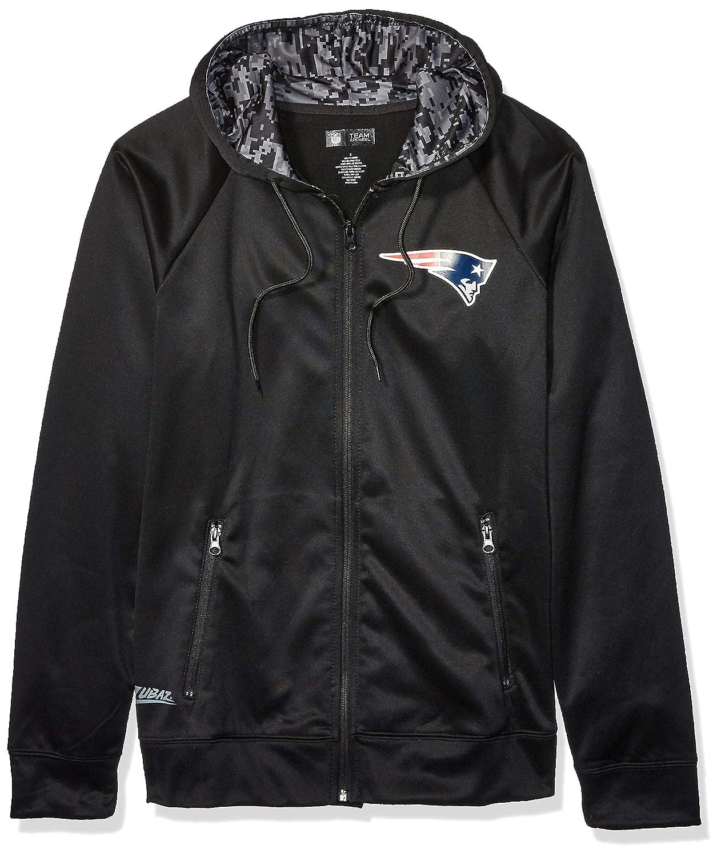 Zubaz NFL New England Patriots Mens Full Zip Hoodie