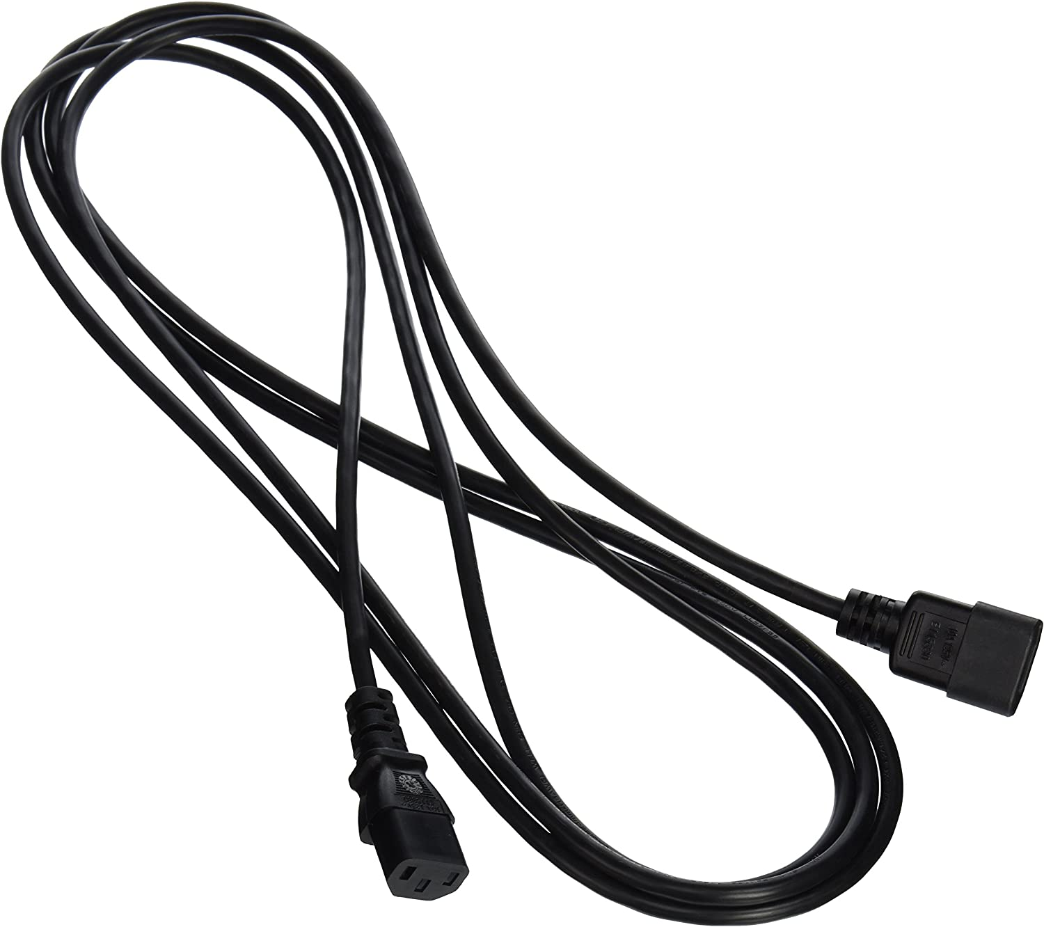 C2G/Cables to Go 53407 12ft 18 AWG Computer Power Extension Cord (IEC320C14 to IEC320C13)