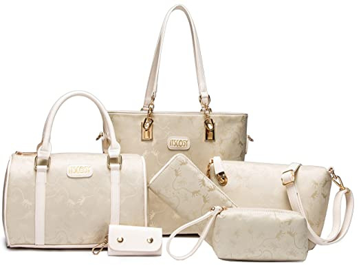 fce09436b9 Women Crossbody Bag Tote Bags for Women Handbag+Crossbody+Purse+Wallet 6  Piece