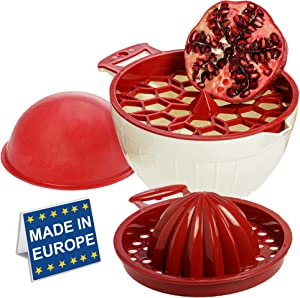 Citrus Lemon Squeezer and Pomegranate Deseeder, 2-in-1 Juicer, Multi Functional Tool for Removing Pomegranate Seed and Extracting the Most Juice (Red)