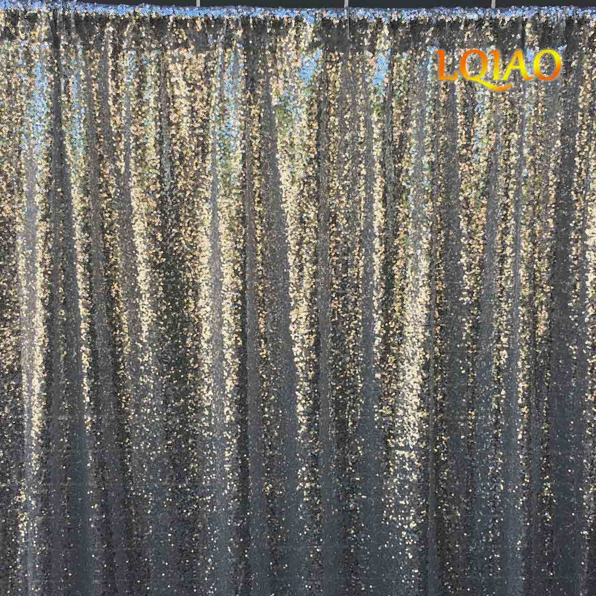 LQIAO 20FTx10FT-600CMx300CM Silver Sequin Backdrops,Party Wedding Photo Booth Backdrop Decoration,Sequin curtains,Drape,Sequin panels by LQIAO