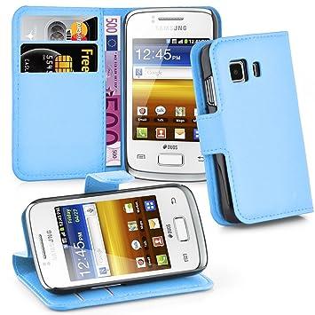 Cadorabo Funda Libro para Samsung Galaxy Young 2 en Azul Pastel – Cubierta Proteccíon con Cierre Magnético, Tarjetero y Función de Suporte – Etui Case ...