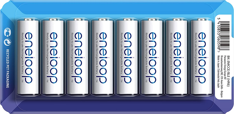 PANASONIC ENELOOP R6/AA 1900MAH, 8 PCS, Sliding Pack: Amazon.es: Electrónica