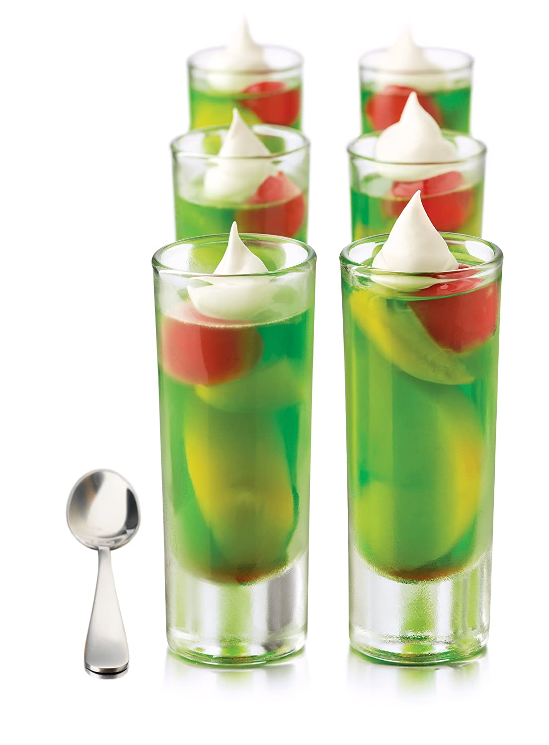 Libbey Just Desserts Parfait Glass With Minaiture Stainless Steel Spoon 25-piece Libreria Venus Inc 1650YS12