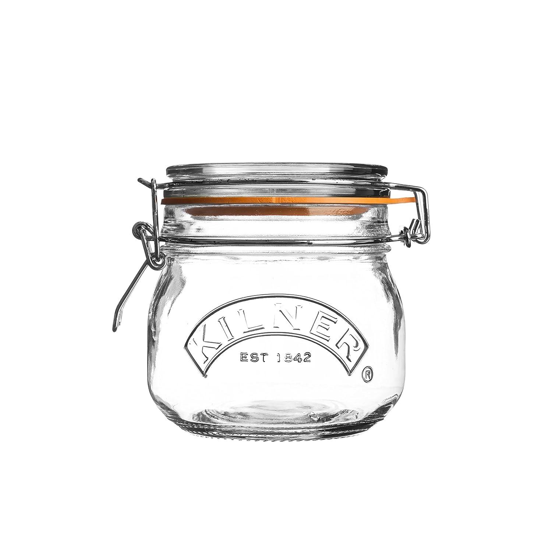 Kilner Clip Top Round Storage Jar, 0.12 Litre 0025.496