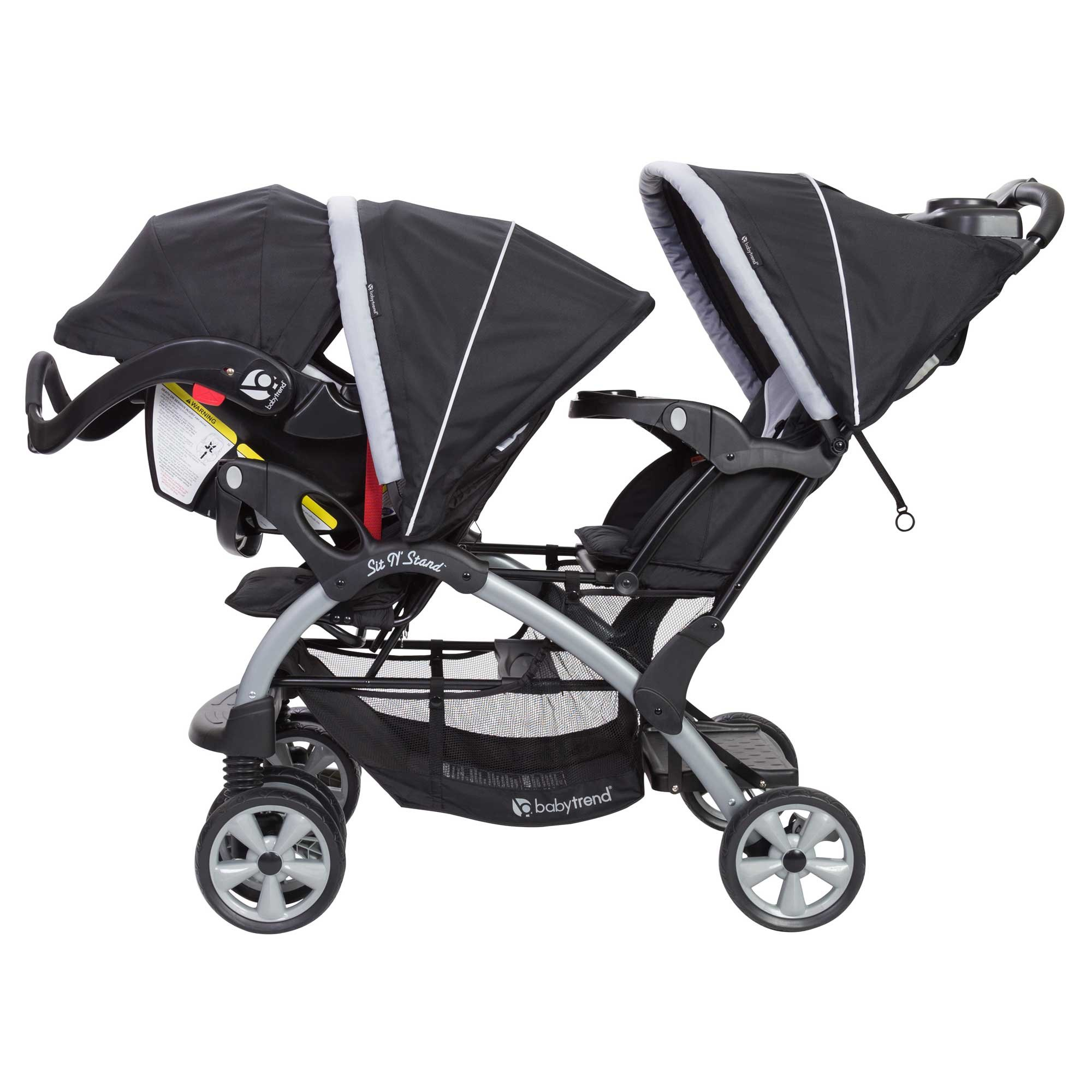 Baby Trend Sit N Stand Tandem Stroller + Infant Car Seat Travel System, Stormy by Baby Trend (Image #4)