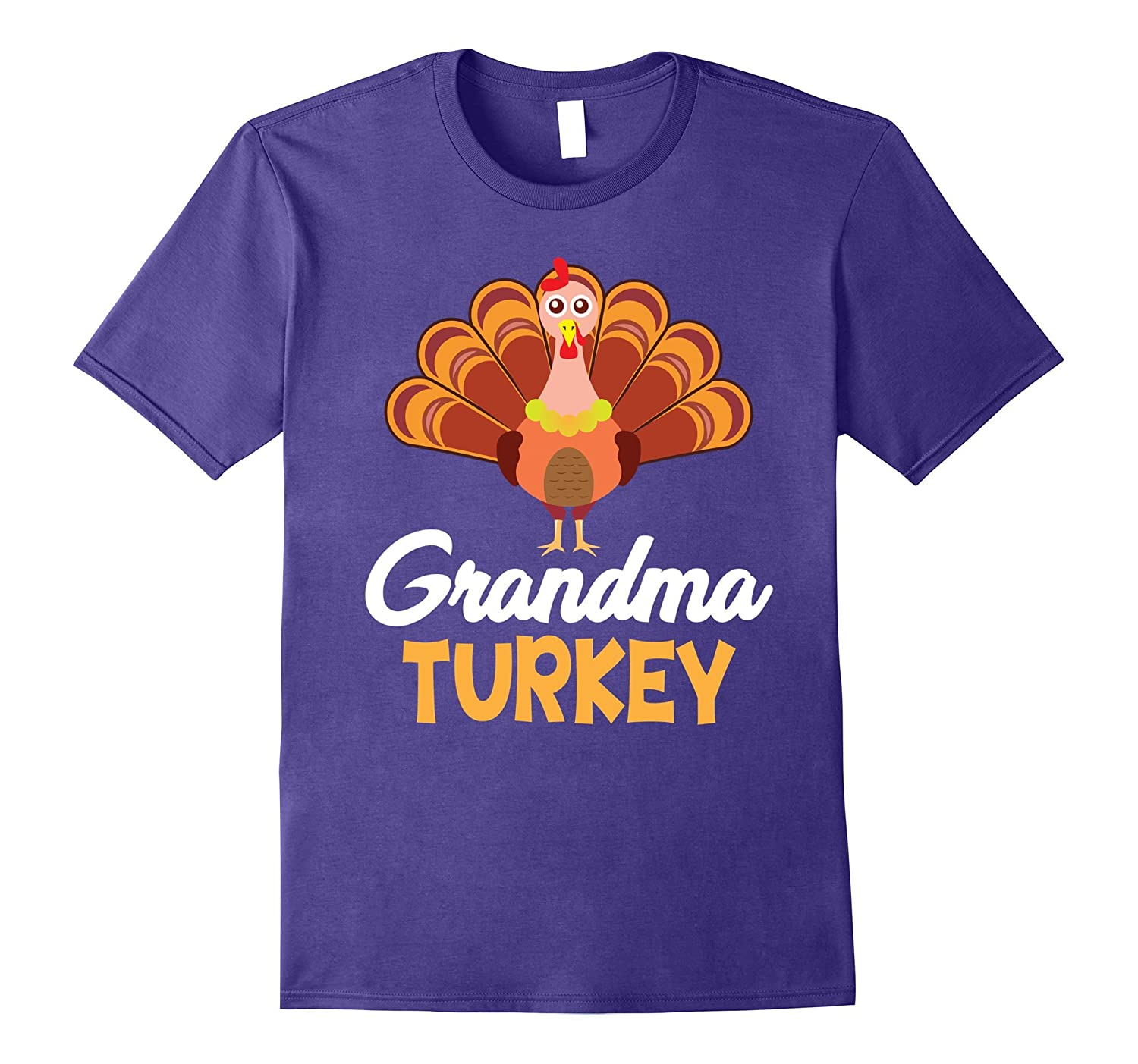 Grandma Turkey Family Matching Cool Thanksgiving T-Shirt-ANZ