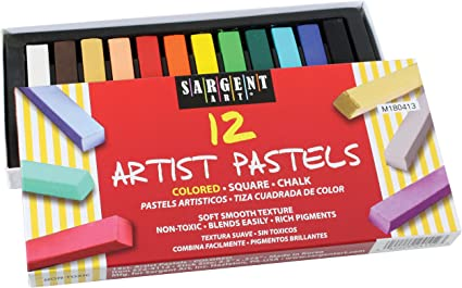 12-Color Set Sargent Art Artists/' Oil Pastels 12-Color Set
