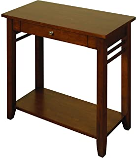 Pendleton Acacia Console Hall Table With 2 Drawers And Under Shelf