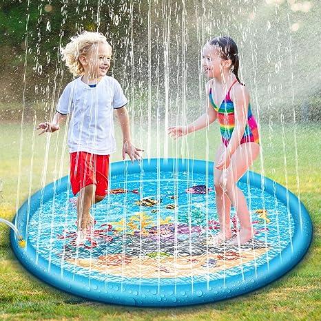 Home & Garden Outdoor Party Sprinkler Pad & Splash Play Mat 68 Toddler Water Toy Fun for Kids