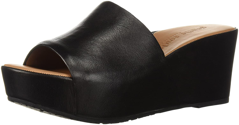 Gentle Souls Women's Forella Platform Slip Slide Sandal B01L9KDKM4 9.5 M US|Black/Brown