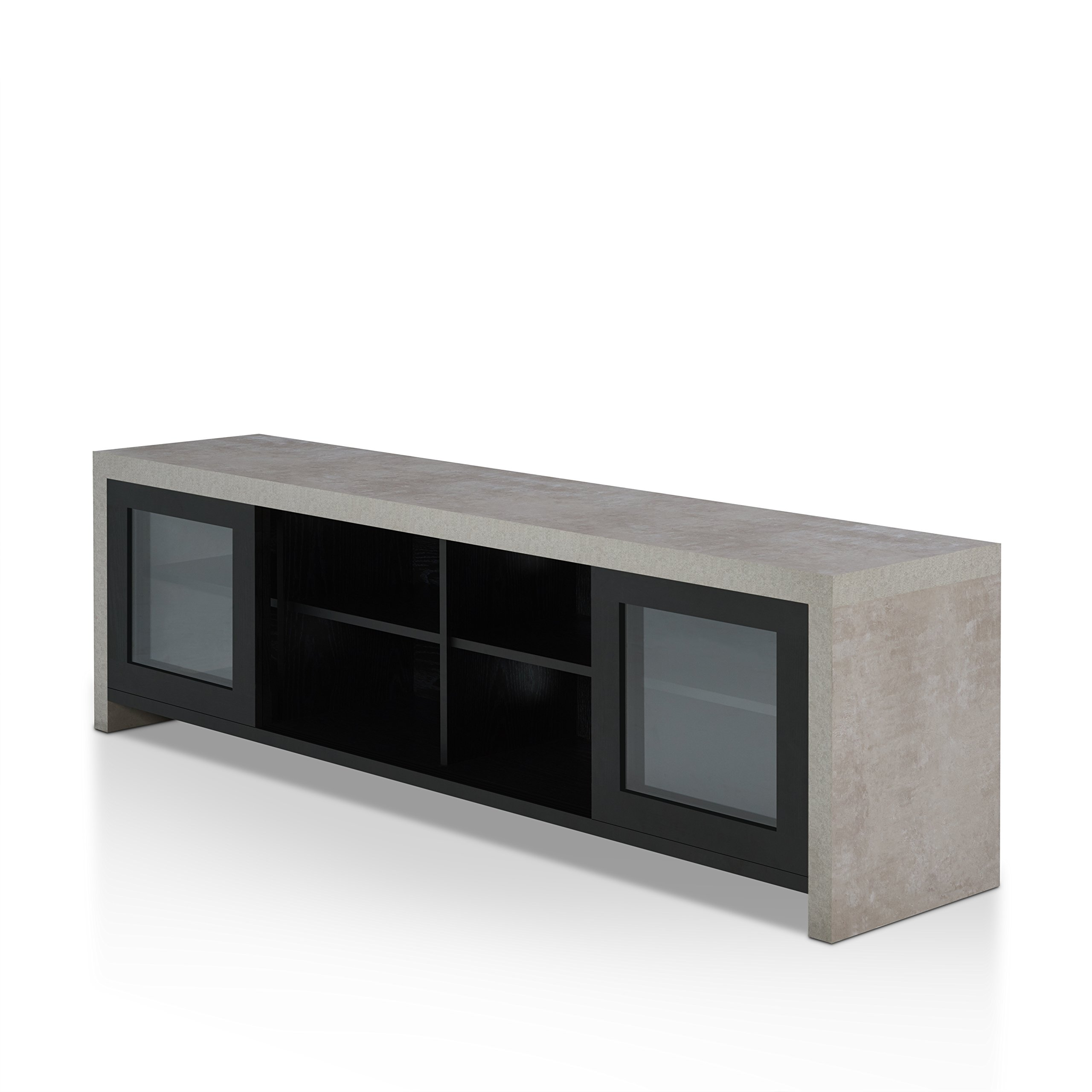 HOMES: Inside + Out FGI-1780C1 Vaice TV Stand Not Applicable, Black by HOMES: Inside + Out