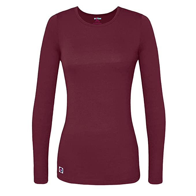 Amazon.com: Sivvan Women's Comfort Long Sleeve T-Shirt/Underscrub Tee:  Clothing