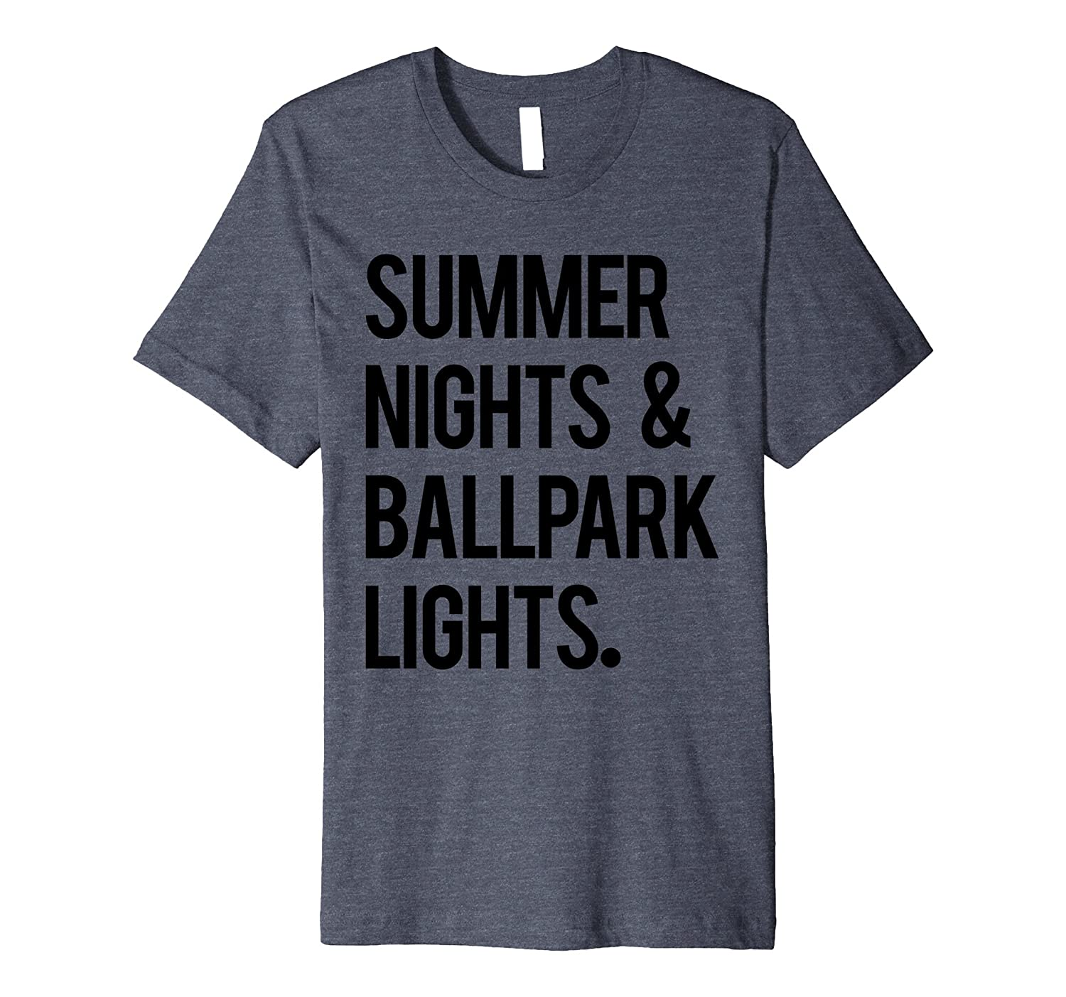 3593cb28a02b Summer Nights   Ballpark Lights Baseball Tee Men Women Cool-TH ...