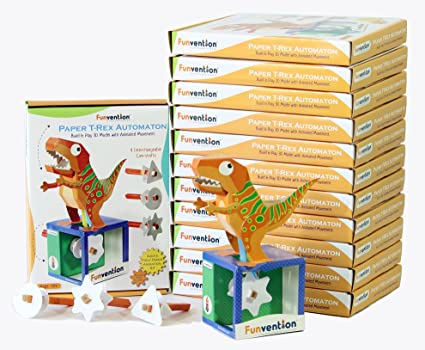 Buy funvention pack of 12 paper t rex automaton 3d model with 4 set funvention pack of 12 paper t rex automaton 3d model with 4 set of solutioingenieria Images