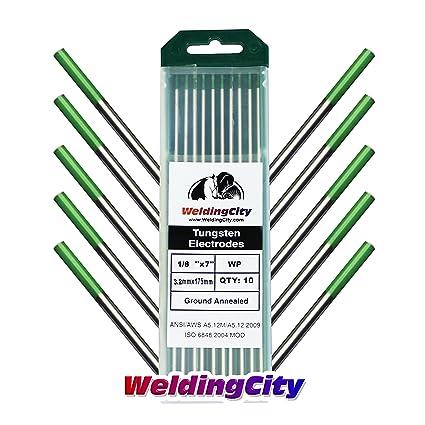 Red 5-pcs WeldingCity 5-pk TIG Welding Tungsten Electrode 2.0/% Thoriated 1//8 x 7