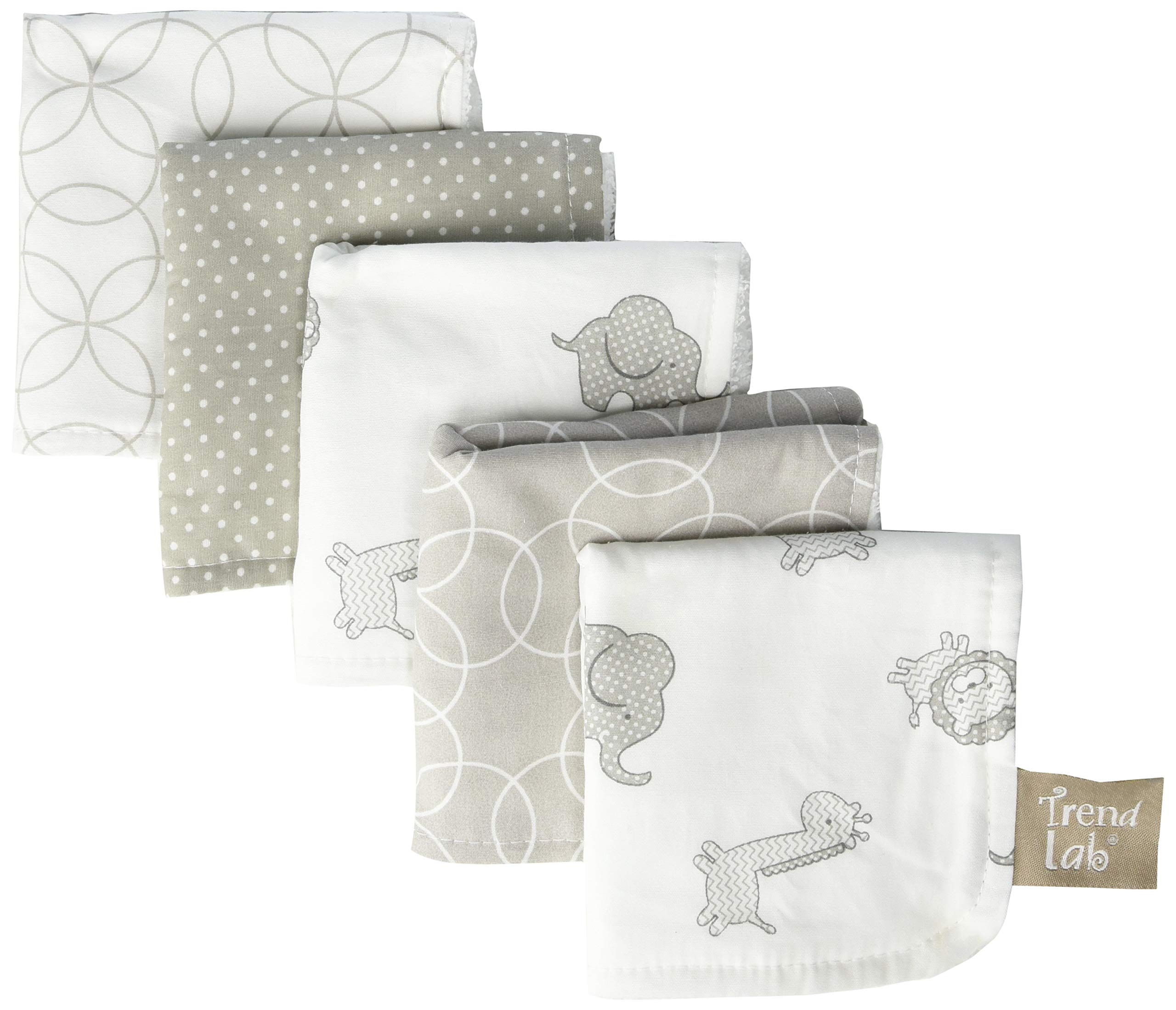Trend Lab Safari Chevron 6Piece Hooded Towel & Wash Cloth Set by Trend Lab