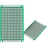 Lantee 50 Pcs Double Sided Protoboard Prototyping PCB Prototype Universal Printed Circuit Board Kit 4cm x 6cm for DIY