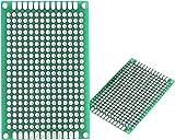 gfortune 10 pcs 2 cm x 8 cm double side prototyping pcb universal rh amazon com