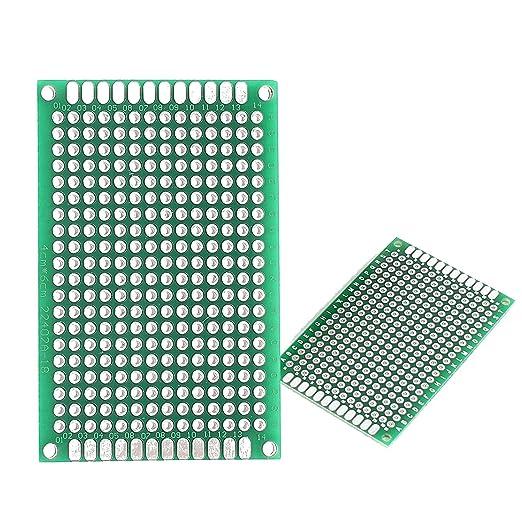 Double face Prototypage PCB Circuit Imprimé DIY Strip Breadboard Platines X5//10