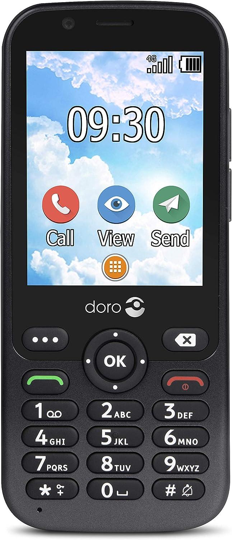 Doro 7010 - Teléfono móvil Desbloqueado 4G para Personas Mayores con Whatsapp y Facebook