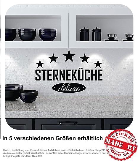 Wandtattoo 5 Sterne Kuche Deluxe Wandaufkleber Kuche Esszimmer Aufkleber 30 Farben Zur Auswahl 45 0 Cm X 29 0 Cm Amazon De Auto