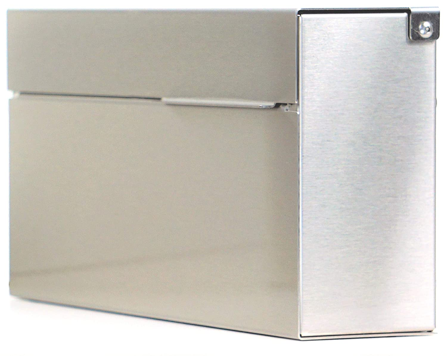 Engraved Stainless Steel Modern Mailbox Personalized Wall-Mount Mailbox Vsons Design Louis S