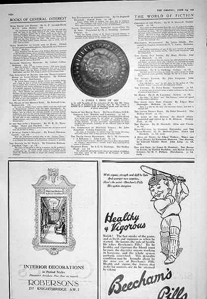 Anuncio 1925 De La Ropa Interior De Las Píldoras Robersons Aertex Del Plato Beechams De Rey