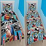 Character World Batman VS Superman Clash Single Rotary Duvet Set, Multi-Colour