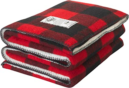 ff34c36036 Image Unavailable. Image not available for. Color  Woolrich Sherpa Rough  Rider Buffalo Check Wool Blanket ...