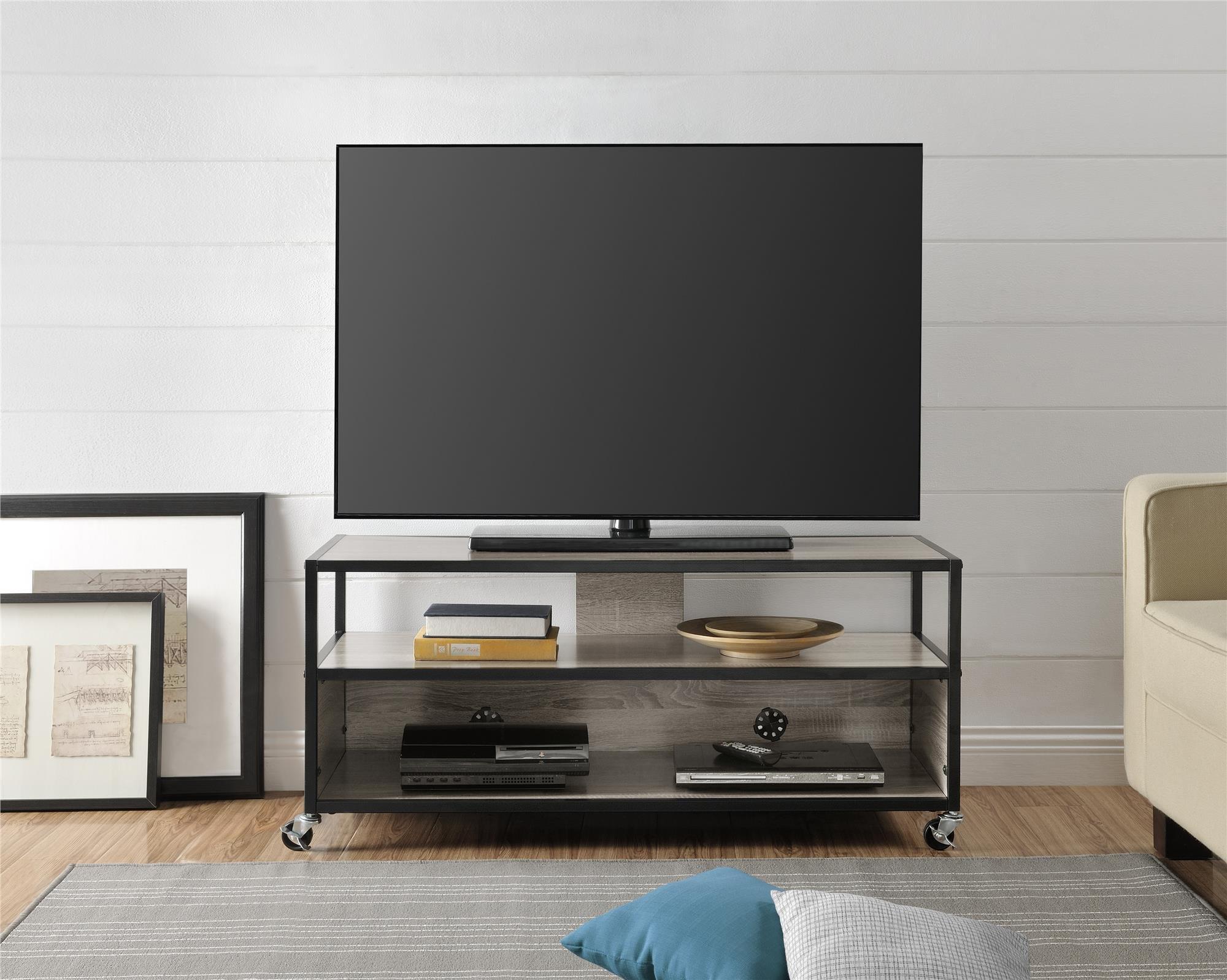 Altra Mason Ridge Mobile 46'' TV Stand with Metal Frame, Sonoma Oak/Black by Altra Furniture (Image #3)
