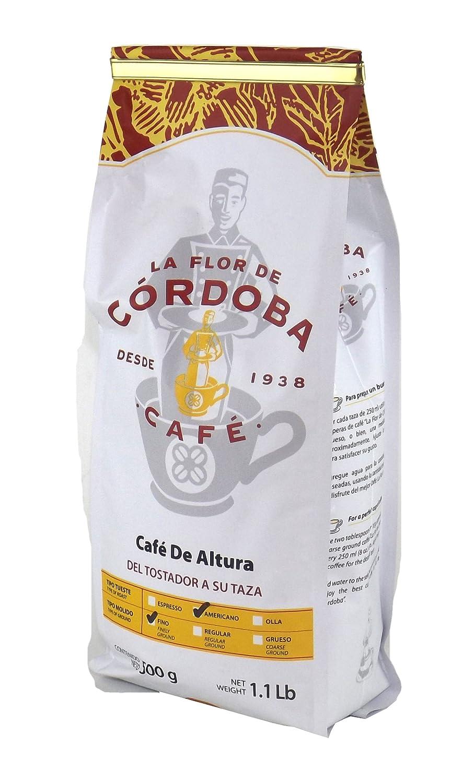 Amazon.com : Café La Flor de Cordoba Mexican Coffee - 1.1Lb (500 grams) (Espresso) : Grocery & Gourmet Food
