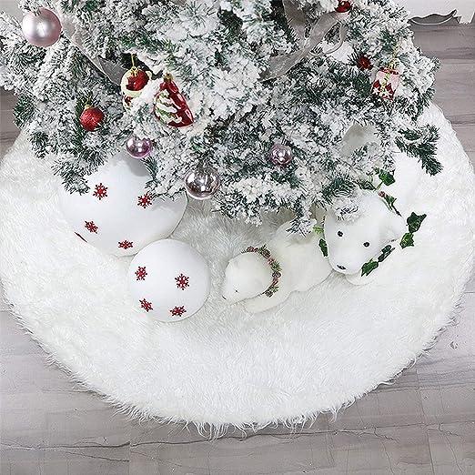PULUSI Falda de árbol de Navidad de 30 Pulgadas, de Pelo sintético ...
