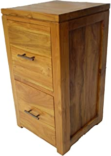 Charming Two Drawer Bedside Cabinet Cd Chest In Solid Teak Wood M X Cm X Cm With Funky  Filing Cabinet. Home Design Ideas