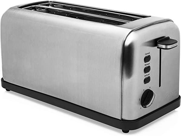 Princess 142389 - Tostadora de doble ranura larga, 1500 W, 6