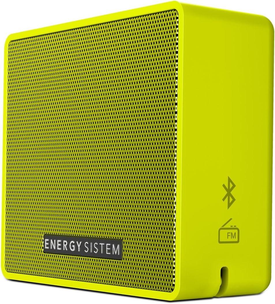 Energy Sistem Box 1+ Altavoz inalámbrico portátil con Bluetooth (5 W, microSD MP3, FM Radio, Audio-In) - Pear
