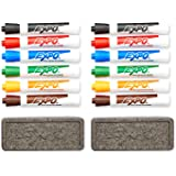 EXPO Original Dry Erase Set, Chisel Tip, Assorted Colors, 7-Piece with Organizer, 2-Sets