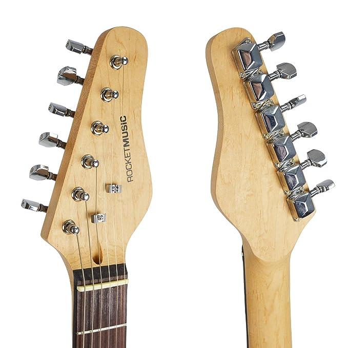 Rocket XF203CBK - Guitarra eléctrica tamaño 3/4: Amazon.es: Instrumentos musicales