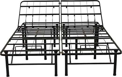 """14/"""" Bed Frame QUEEN SIZE Metal Platform Full Iron Raised Low Foldable Heavy Duty"""