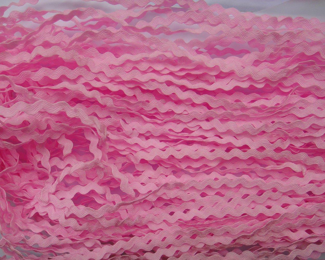 Lyracces Wholesale Lots 40yards Mini 5mm 24color Pick Woven Rick Rack Ribbon Ric Rac Trims Scrapbooking Dressmaking (White #11) GarmentSewingsupplies
