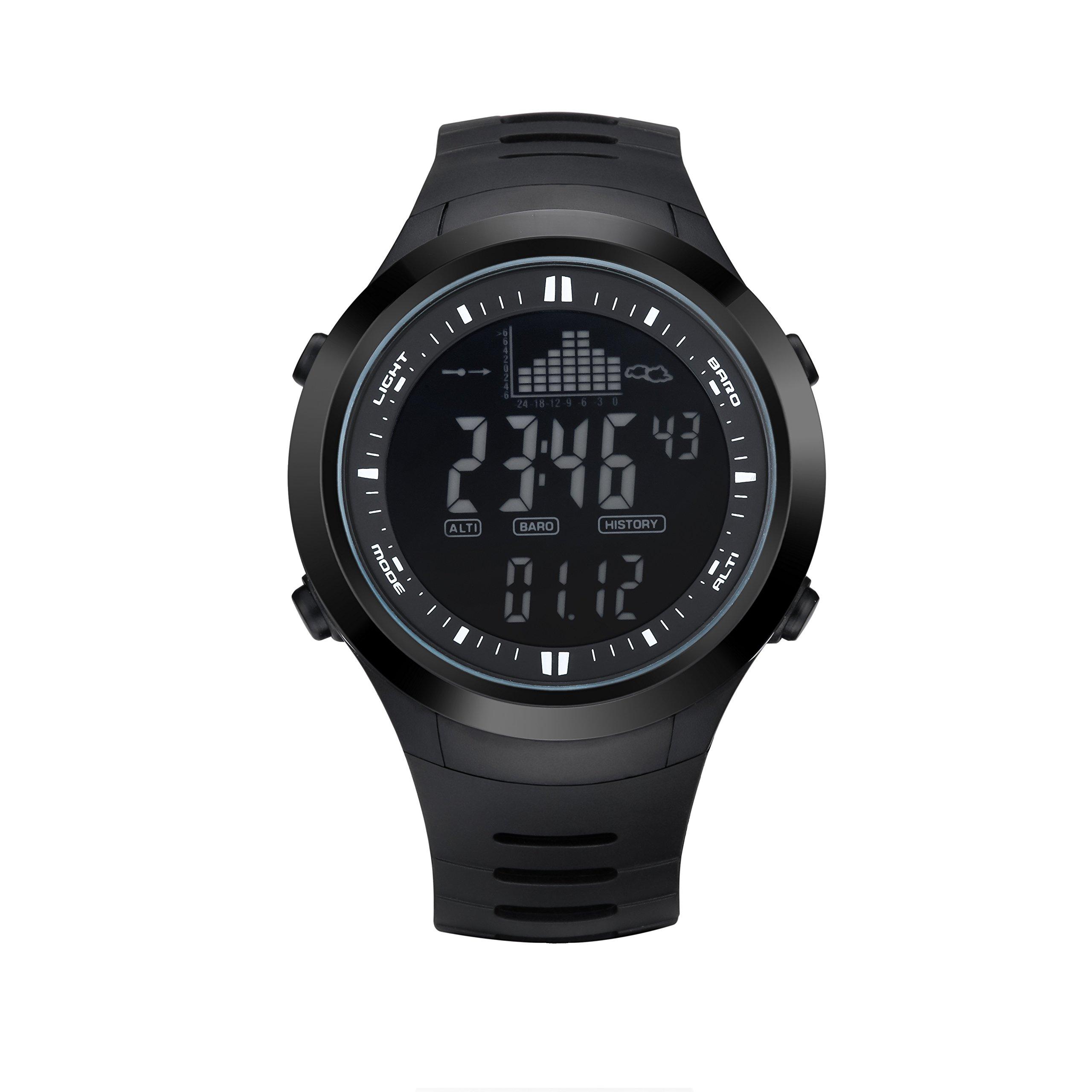 Morjava SPV-709 Military Watche 30M waterproof Men Clock Barometer Waterproof Thermometer Altimeter Military Sports Digital Watch Men's Watch -Black
