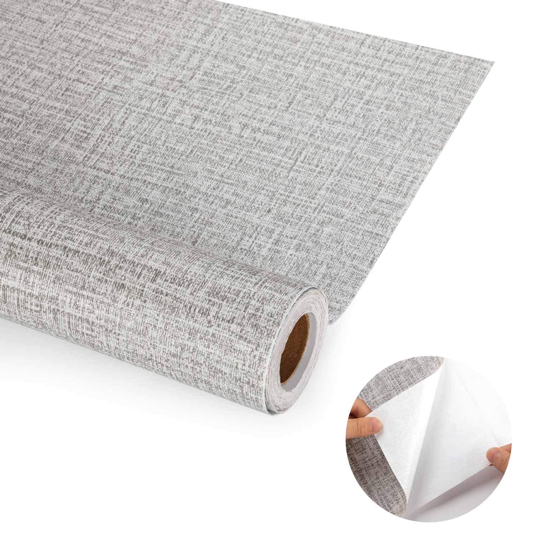 iKINLO Linge de Maison Vintage Textur/é D/écor /À La Maison Papier Peint 61 500CM PVC Adh/ésif Film Papier Peint /Étanche D/écoration Applicable aux Cabinets et Coiffeuse etc.
