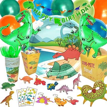 Amazon.com: Suministros de fiesta de dinosaurio para niños y ...