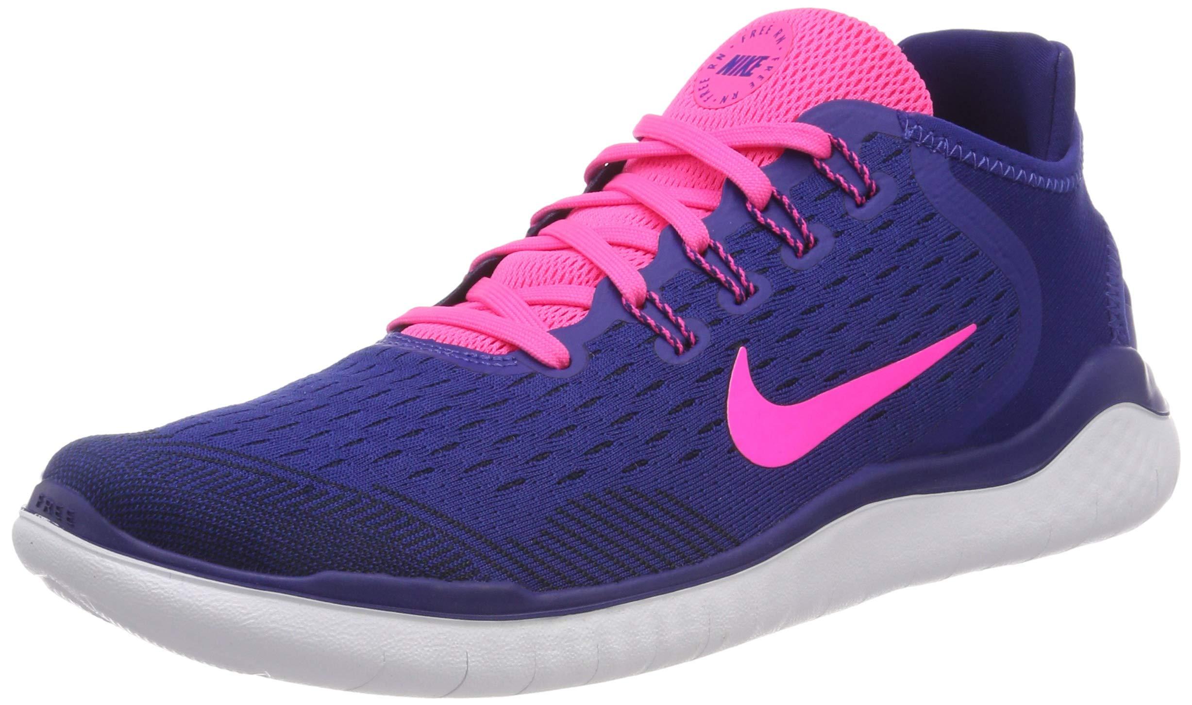 e9ee6cd50a35d Nike Women's Free RN 2018 Running Shoe Deep Royal Blue/Pink 5.5 M US