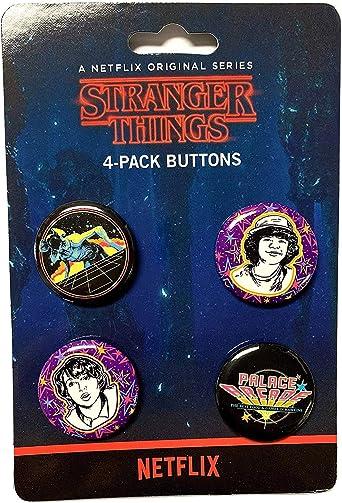 Funko Stranger Things Palace Arcade Botones 4-Pack: Amazon.es: Ropa y accesorios