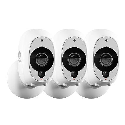 Swann Smart Wireless Security Camera with True Detect PIR Heat/Motion  Sensor - Pack of 3